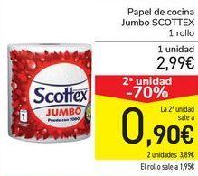 Oferta de Papel de cocina JUMBO Scottex  por 2,99€