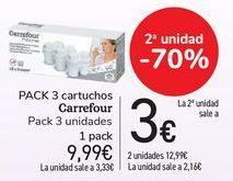 Oferta de Pack 3 cartuchos Carrefour por 9,99€