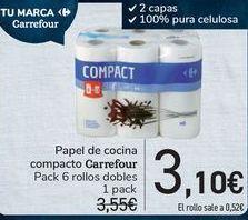 Oferta de Papel de cocina compacto Carrefour  por 3,1€
