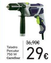 Oferta de Taladro percutor Carrefour por 29€