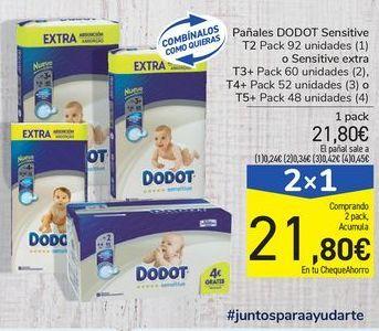 Oferta de Pañales DODOT Sensitive o Sensitive extra por 21,8€