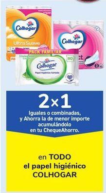 Oferta de En TODO el papel higiénico COLHOGAR, iguales o combinados  por