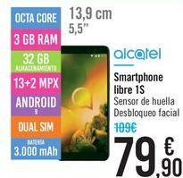 Oferta de Smartphone Libre 1S Alcatel por 79,9€