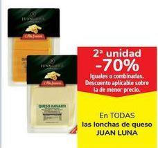 Oferta de En TODAS las lonchas de queso JUAN LUNA por
