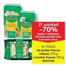 Oferta de En TODAS las pastas frescas rellenas y lasañas frescas BUITONI por