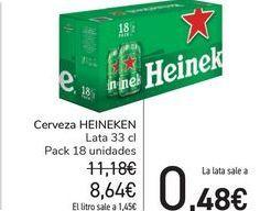 Oferta de Cerveza HEINEKEN por 8,64€