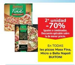 Oferta de En TODAS las pizzas Masa Fina, Micro o Bella Napoli BUITONI por