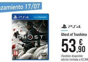 Oferta de Ghost of Tsushima  por 53,9€