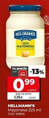 Oferta de Mayonesa Hellmann's por 0,99€