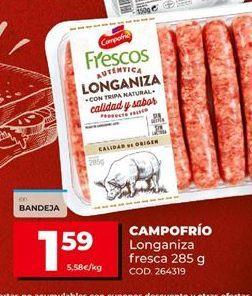 Oferta de Longaniza Campofrío por 1,59€