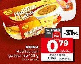 Oferta de Natillas con galleta reina por 0,79€