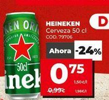 Oferta de Cerveza Heineken por 0,75€