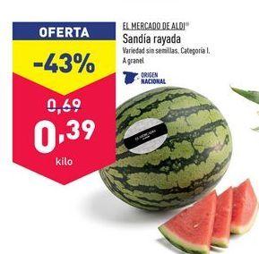 Oferta de Sandía aldi por 0,39€