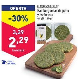 Oferta de Hamburguesas de pollo aldi por 2,29€