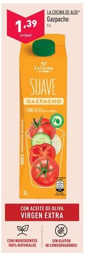 Oferta de Gazpacho aldi por 1,39€
