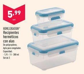 Oferta de Recipientes herméticos por 5,99€
