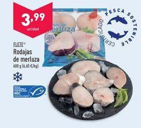 Oferta de Rodajas de merluza flete por 3,99€