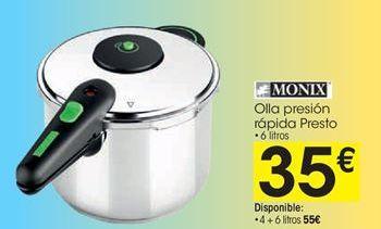 Oferta de Olla a presión Monix por 35€