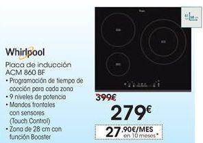 Oferta de Placa de inducción Whirlpool por 279€