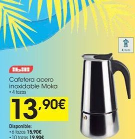 Oferta de Cafeteras Ibili por 13,9€