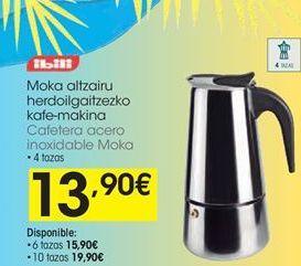 Oferta de Cafetera de acero Ibili por 13,9€