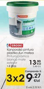 Oferta de Pintura plástica eroski por 13,9€