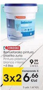 Oferta de Pintura plástica eroski por 9,99€
