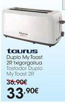 Oferta de Tostadora Taurus por 33,9€