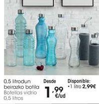 Oferta de Botella de vidrio por 1,99€
