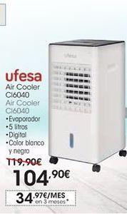 Oferta de Aire acondicionado Ufesa por 104,9鈧�