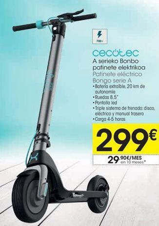 Oferta de Patinete eléctrico cecotec por 299€