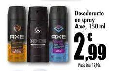Oferta de Desodorante en spray Axe por 2,99€