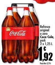 Oferta de Refresco de cola Coca-Cola por 1,92€