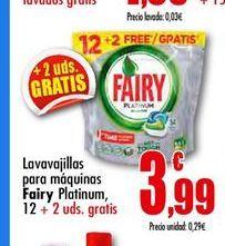 Oferta de Detergente lavavajillas Fairy por 3,99€