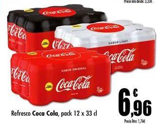 Oferta de Refresco de cola Coca-Cola por 6,96€