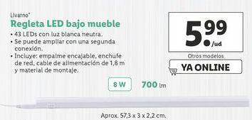 Oferta de Regleta LED bajo mueble Livarno por 5,99€