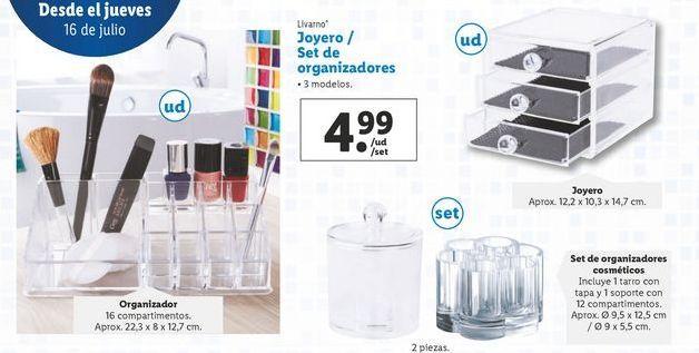 Oferta de Joyero / set de organizadores Livarno por 4,99€