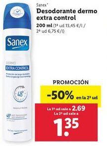Oferta de Desodorante dermo extra control Sanex por 2,69€