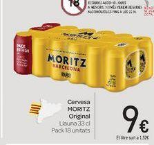 Oferta de Cervesa MORITZ Original por 9€