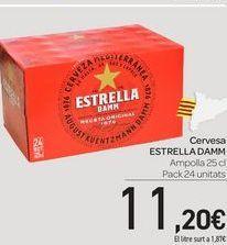 Oferta de Cervesa ESTRELLA DAMM por 11,2€