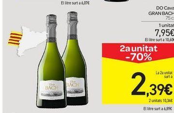 Oferta de DO Cava Gran Bach por 7,95€