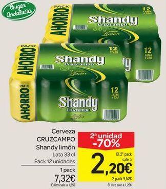 Oferta de Cerveza CRUZCAMPO Shandy limón por 7,32€