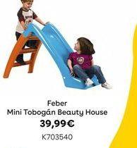 Oferta de MINI TOBOGÁN BEAUTY HOUSE Feber por 39,99€