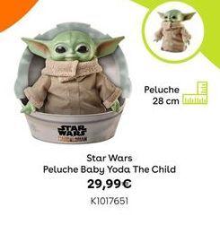 Oferta de Star Wars peluche baby yoda the child por 29,99€
