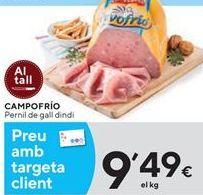 Oferta de Pechuga de pavo Campofrío por 9,49€