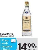 Oferta de Ginebra Seagram's por 14,99€