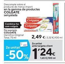 Oferta de Dentífrico Colgate por 2,49€
