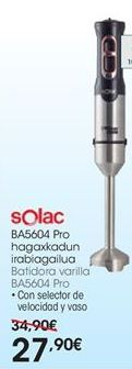 Oferta de Batidora de varillas Solac por 27,9€