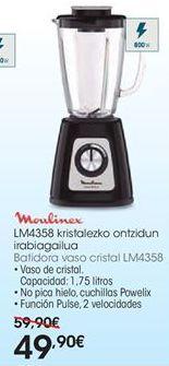 Oferta de Batidora de vaso Moulinex por 49,9€