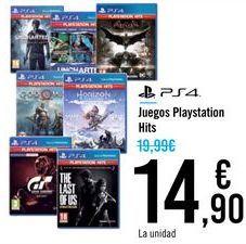Oferta de Juegos Playstation Hits  por 14,9€